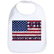 911 Grunge Flag Bib
