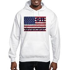 911 Grunge Flag Hoodie