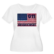 911 Grunge Flag T-Shirt