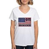 9 11 Womens V-Neck T-shirts