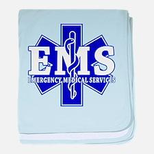 Star of Life EMT - blue baby blanket