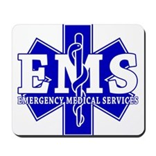 Star of Life EMT - blue Mousepad