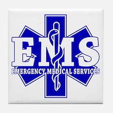 Star of Life EMT - blue Tile Coaster