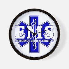 Star of Life EMT - blue Wall Clock