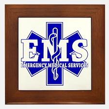 Star of Life EMT - blue Framed Tile