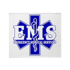 Star of Life EMT - blue Throw Blanket