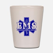 Star of Life EMT - blue Shot Glass
