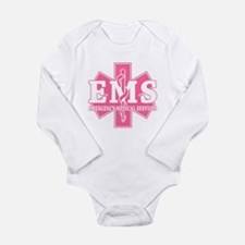 Star of Life EMS (pink) Long Sleeve Infant Bodysui