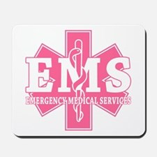 Star of Life EMS (pink) Mousepad