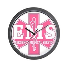 Star of Life EMS (pink) Wall Clock