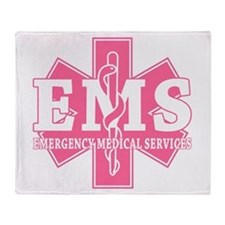 Star of Life EMS (pink) Throw Blanket