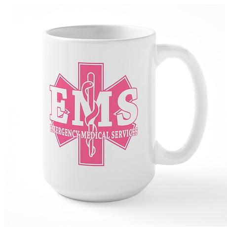 Star of Life EMS (pink) Large Mug