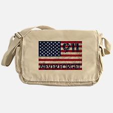 911 Grunge Flag Messenger Bag