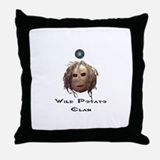 Wild Potato Clan Throw Pillow
