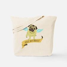 Pugs Not Drugs (Angel) Tote Bag