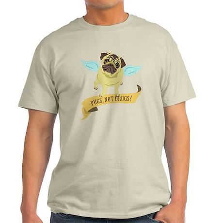 Pugs Not Drugs (Angel) Light T-Shirt