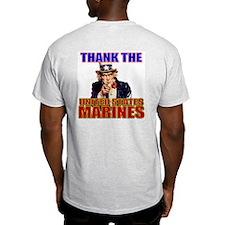Got Freedom? Thank the Marine Ash Grey T-Shirt