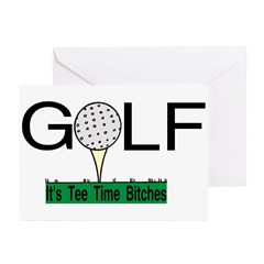 Golf Tee Time Greeting Cards (Pk of 10)