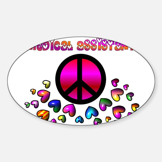 Medical Assistant Sticker (Oval 10 pk)