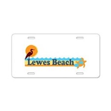 Lewes Beach DE - Beach Design. Aluminum License Pl