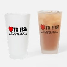 Love To Fish Drinking Glass