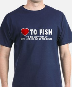 Love To Fish T-Shirt