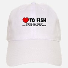Love To Fish Baseball Baseball Cap