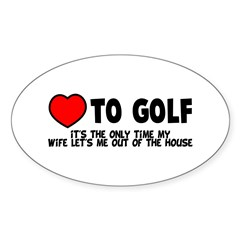 Love To Golf Decal