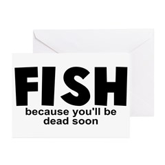 Fish Before Death Greeting Cards (Pk of 10)