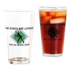 Baseball Bases Loaded Drinking Glass