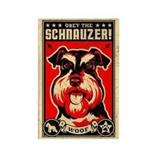 Obey the SCHNAUZER! Rectangle Magnet