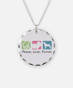 Peace, Love, Rotties Necklace