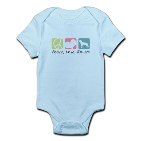 Peace, Love, Rotties Infant Bodysuit