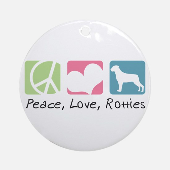 Peace, Love, Rotties Ornament (Round)