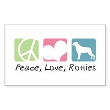 Peace, Love, Rotties Decal