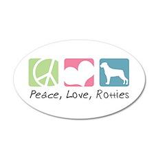 Peace, Love, Rotties 22x14 Oval Wall Peel