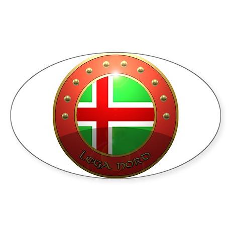 lega nord Sticker (Oval)