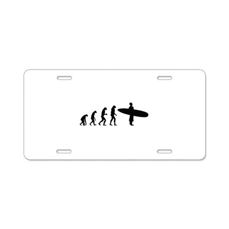Evolution surfing Aluminum License Plate
