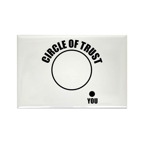 Circle of trust Rectangle Magnet (100 pack)