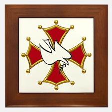Cute Malteses cross Framed Tile