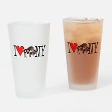Love Buffalo Drinking Glass
