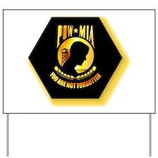 Emblem - POW - MIA Yard Sign