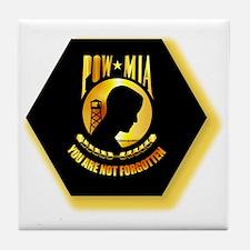 Emblem - POW - MIA Tile Coaster