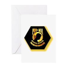 Emblem - POW - MIA Greeting Card