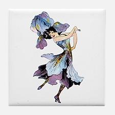 Iris Flower Fairy Tile Coaster