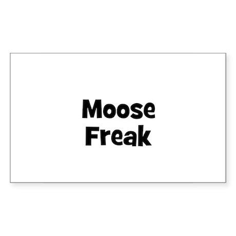 Moose Freak Rectangle Sticker