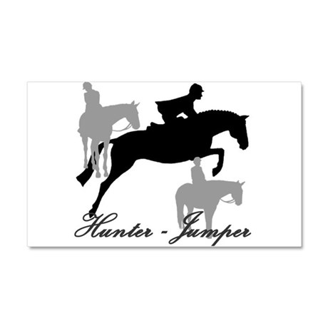 Hunter Jumper Trio Script Car Magnet 20 x 12