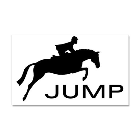 """JUMP"" Hunter Jumper Car Magnet 20 x 12"
