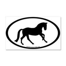 Canter Horse Oval Car Magnet 20 x 12