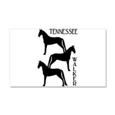 Tennessee Walkers Trio Car Magnet 20 x 12